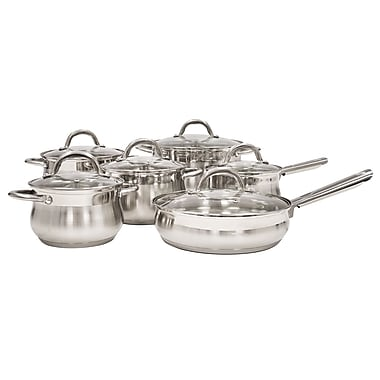Alpine cuisine mirror finished cookware set stainless for Alpine cuisine cookware