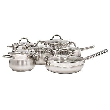 Alpine cuisine mirror finished cookware set stainless for Alpine cuisine cookware set