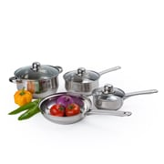 Alpine Cuisine Belly Shaped Cookware Set Stainless Steel 7-Piece (KAAI17698)