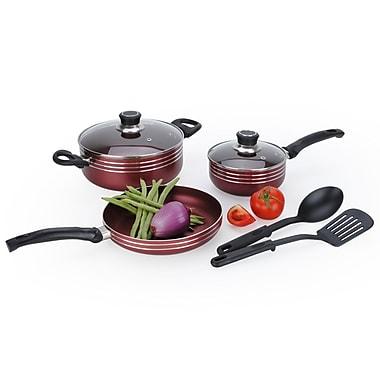 Alpine cuisine two tone aluminum non stick cookware set for Alpine cuisine cookware set