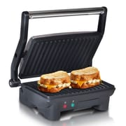 Elite 3-in-1 Panini, Press and Indoor Grill, Black/Silver (KM2976)
