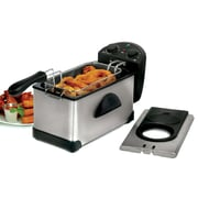 Elite 3.5-Quart Electric Stainless Steel Deep Fryer, Silver (KM3500)