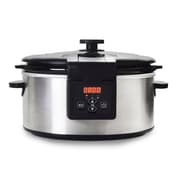 Elite 6-Quart Programmable Slow Cooker, Stainless Steel (KM6013D)