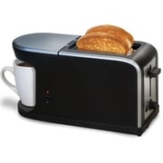 Elite KM819 2-Slice Toaster and Coffee Maker Station, Black