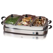 Elite Versatile Electric Triple Tray Buffet Server, Silver (KM9933)
