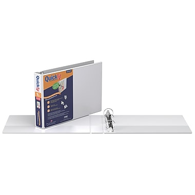 QuickFit® Deluxe Heavy-Duty Spreadsheet View Binder (8.5