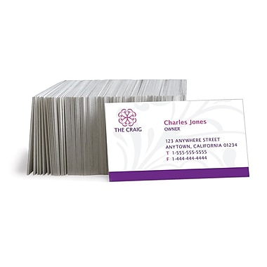 Staples® Custom Business Cards, Double Sided, Colour Matte