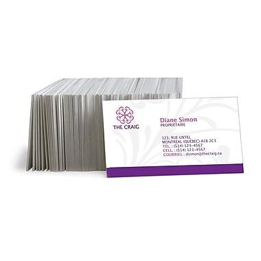 Staples® - Cartes professionnelles personnalisées, recto verso, couleur mate, ens./500 cartes