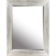 Hobbitholeco. Silver Leaf Gradient Frame 26.25'' x 34.25'' Beveled Mirror
