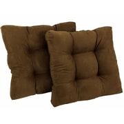 Blazing Needles Chair/Rocker Cushion (Set of 2); Gray