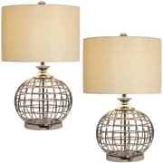 Urban Designs Round Metal Cage 27'' Table Lamp (Set of 2)