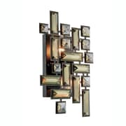 Elegant Lighting Picasso 2 Light Wall Sconce; Dark Bronze/Golden Teak