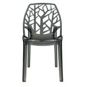 LeisureMod Cornelia Side Chair; Transparent Black