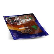 JasmineArtGlass Square Platter; 2'' x 10'' x 6''