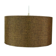 Home Concept 1 Light Drum Pendant; Chocolate Burlap