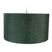 Home Concept 1 Light Drum Pendant; Granite Grey Burlap