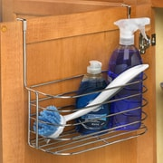 Spectrum Diversified Duo Over the Cabinet Towel Bar and Basket; Chrome
