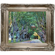 Tori Home Avenue in Schloss Kammer Park by Gustav Klimt Framed Original Painting