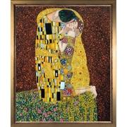 Tori Home Klimt The Kiss, Full View by Gustav Klimt Framed Original Painting