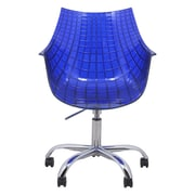 LeisureMod Ashville Mid-Back Office Chair; Blue