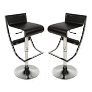 LeisureMod Napoli Adjustable Height Swivel Bar Stool (Set of 2)