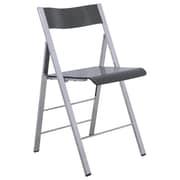 LeisureMod Menno Mo Folding Chair; Transparent Black