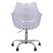 LeisureMod Ashville Mid-Back Office Chair; Clear