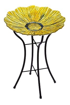 Evergreen Enterprises, Inc Golden Flower Birdbath WYF078278531866