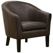 Wholesale Interiors Baxton Studio Minstrels Leather Accent Chair in Dark Brown