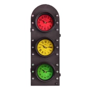 UtopiaAlley Traffic Light Clock w/ Storage Wall Decor