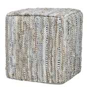 Evergreen Enterprises, Inc Coastal Elegance Leather Pouf