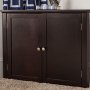 Craft Kids Furniture 2 Door Corner Cabinet; Espresso by