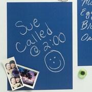 Wallies 4 Sheet Vinyl Peel and Stick Chalkboard Wall Decal; Bluepring Blue