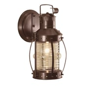 Norwell Lighting Seafarer 1 Light Outdoor Wall Lantern; Bronze