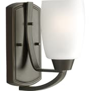 Progress Lighting Wistin CFL 1-Light Armed Sconce; Antique Bronze - Energy Star