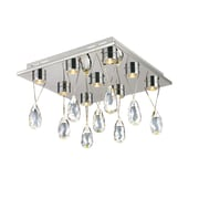 TransGlobe Lighting Bejeweled 9 Light Flush Mount