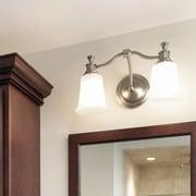 Norwell Lighting Sienna 2 Light Bath Vanity Light; Brushed Nickel