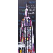 LaKasaLLC City Scenic Modern, Architecture Empire New York Painting Print on Canvas