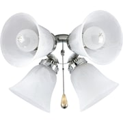Progress Lighting AirPro 4 Light Branched Ceiling Fan Light Kit; Brushed Nickel