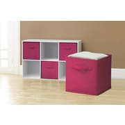 GGI International Sorbus Collapsible Foldable Storage Cube Basket Bin (Set of 6); Pink