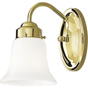 Progress Lighting Opal 1 Light Wall Sconce; Brass