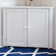 Craft Kids Furniture 2 Door Corner Cabinet; White