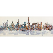 LaKasaLLC Modern City Scenic, World Iconic Architecture Painting Print on Canvas