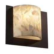 Justice Design Group Alabaster Rocks Framed 1 Light ADA Wall Sconce; Brushed Nickel