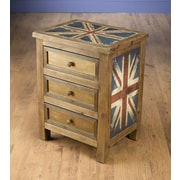 AA Importing Britania 3 Drawer Chest