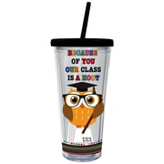 Evergreen Enterprises, Inc 20 Oz. Class is a Hoot Insulated Cup with Straw