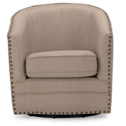 Wholesale Interiors Baxton Studio Classic Retro Upholstered Barrel Chair; Beige