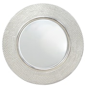 Selections by Chaumont Hammered Round Mirror