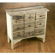 AA Importing 9 Drawer Weathered Wood Cabinet