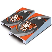 AJJCornhole 10 Piece Swoosh Tabletop Cornhole Set; Bowling Green Falcons